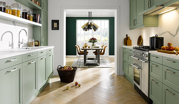 Painted Wood Kitchens
