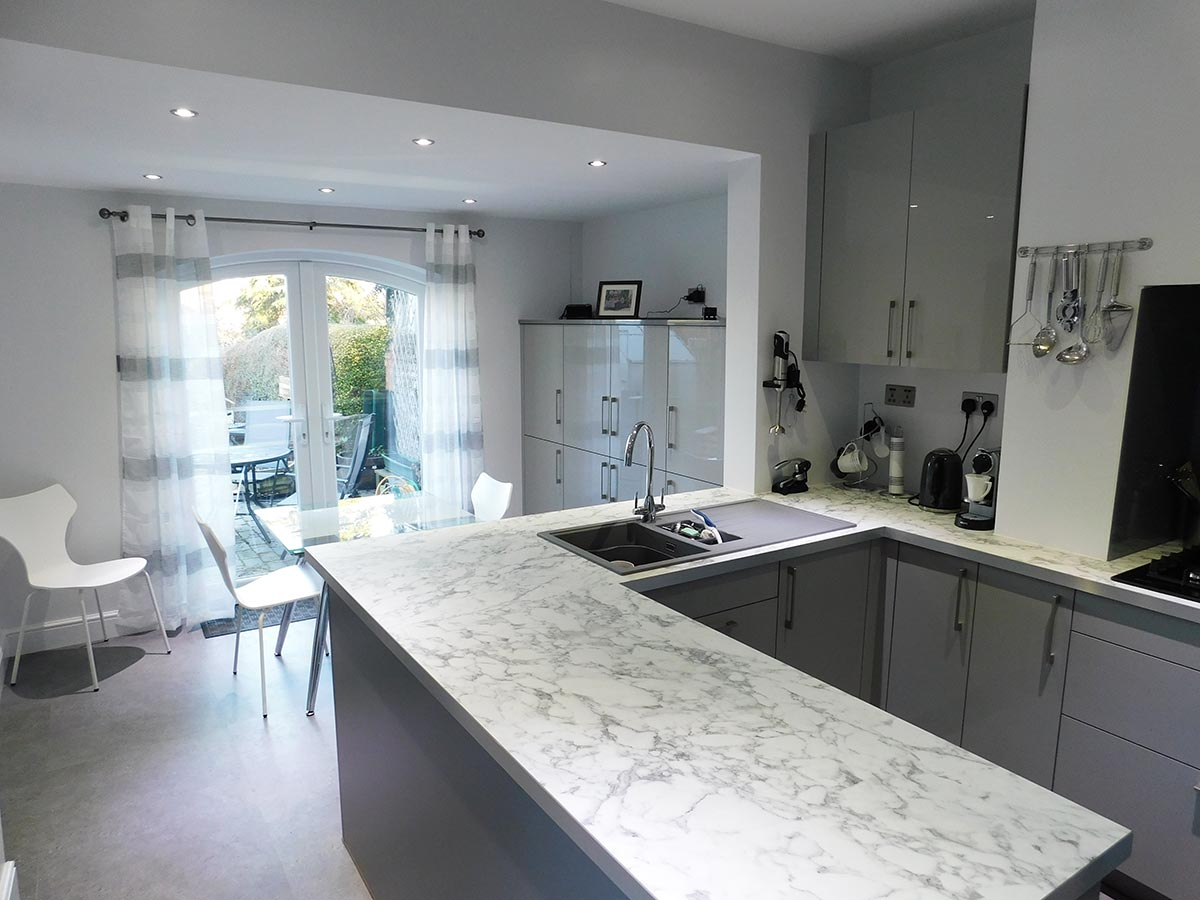 Uni-Gloss Stone Grey Painted Schuller kitchen